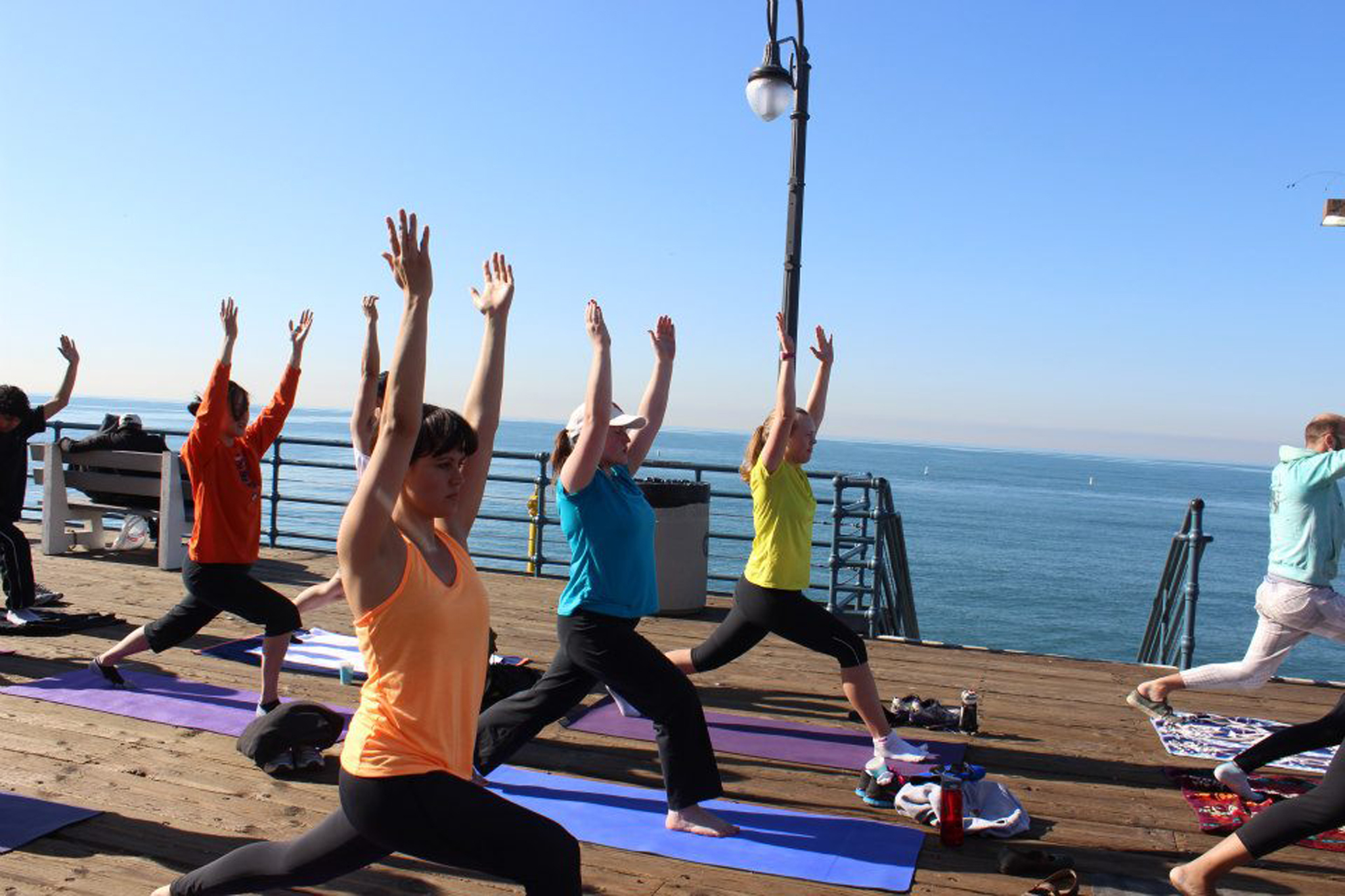 Get fit with a free oceanside run and yoga class