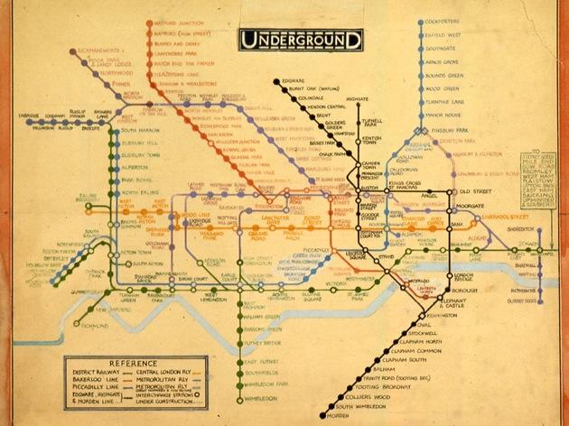 Harry Beck's hand-drawn Tube maps at The London Transport Museum