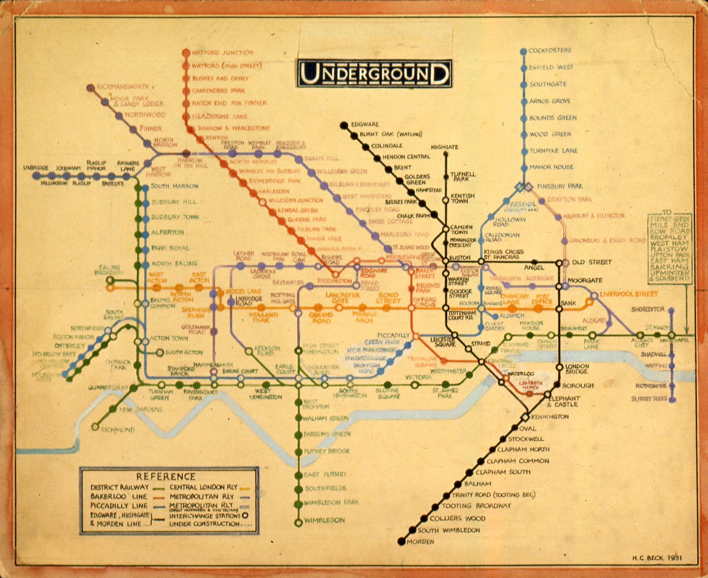 harry beck tube map