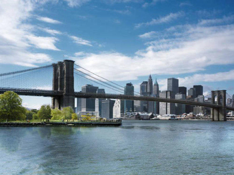 Stroll across the Brooklyn Bridge