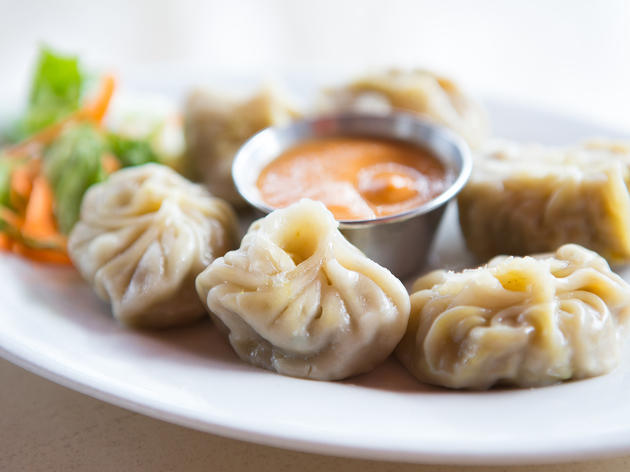 Steamed vegetable momos at Tara's Himalayan Cuisine