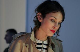 Alexa Chung at London fashion Week 2012