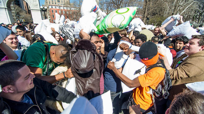 NYC Pillow Fight 2013