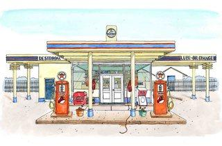 'Gas Station' (©Emma Kelly, represented by Handsome Frank)