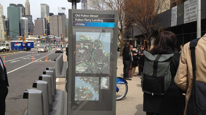 CitiBike docking stations in Brooklyn