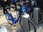 Citi Bike docking station in Dumbo