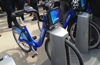 Citi Bike docking station in Dumbo