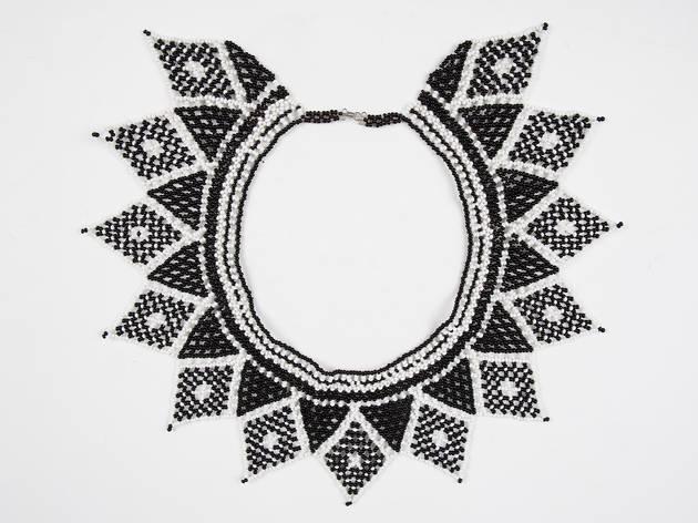 Handmade beaded collar from Panama, $72, at Forma de Ser pop-up