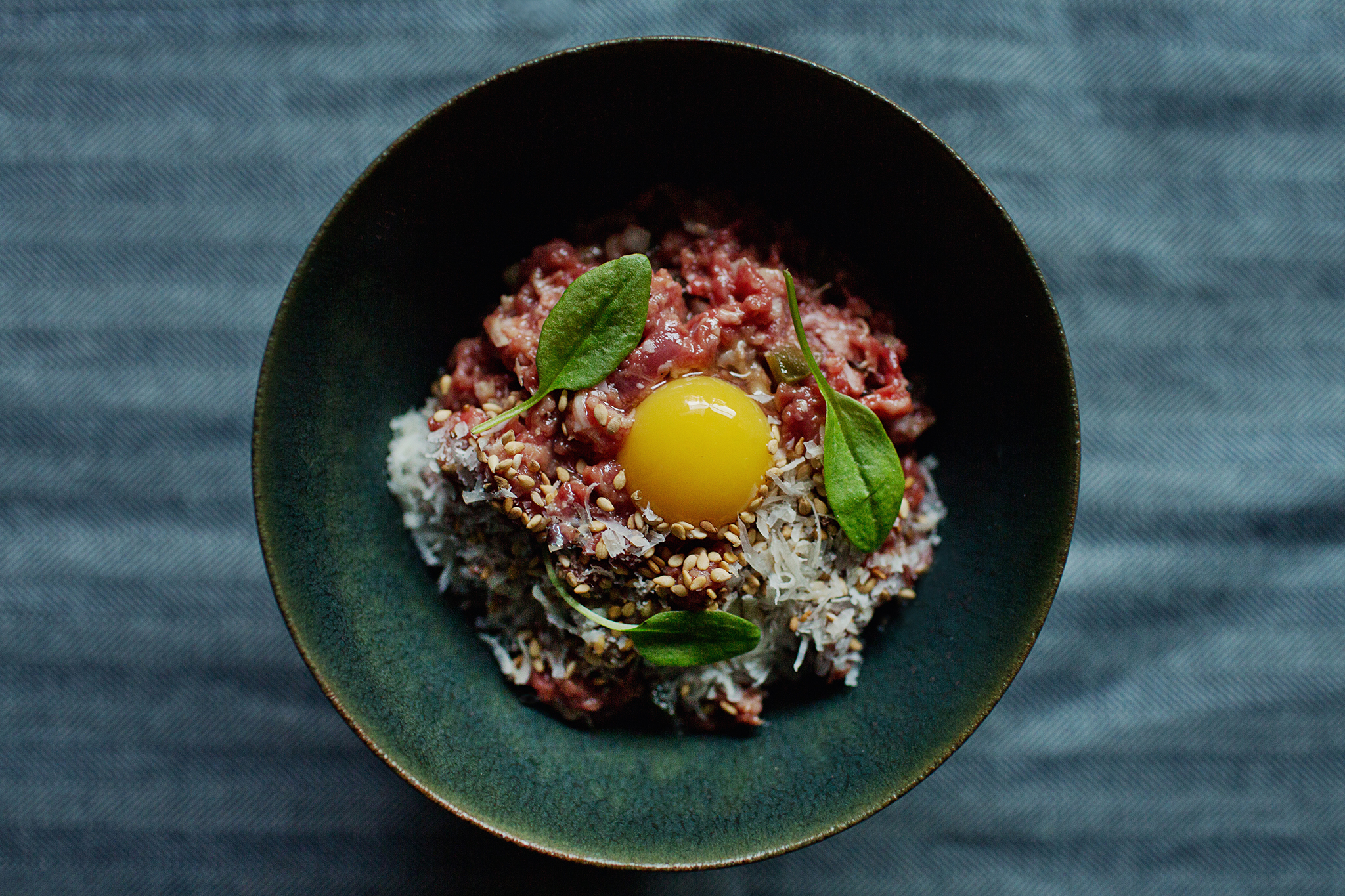 Beef tartare at Hinoki & the Bird
