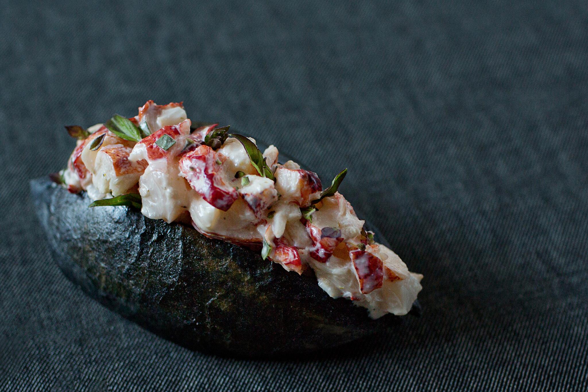 Lobster roll at Hinoki & the Bird