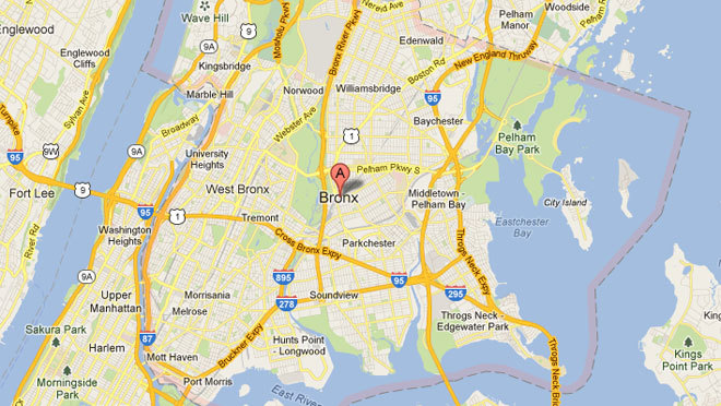 Subway Map Of The Bronx.Map Of The Bronx Subway And Street Map Of The Bronx In Nyc