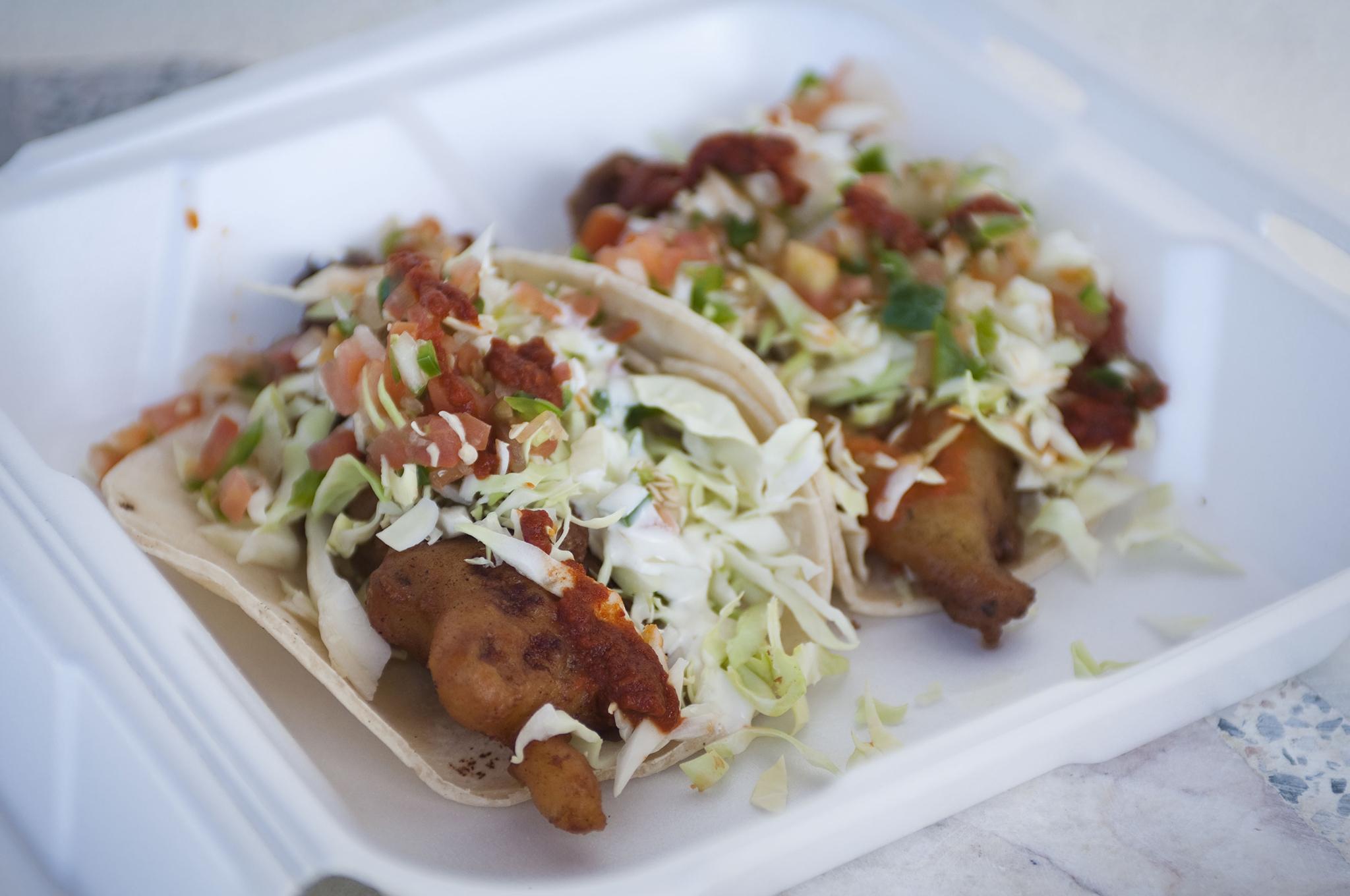 Fish tacos at Ricky's Fish Tacos