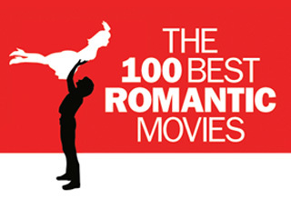The 100 best romantic movies logo 320 x 240