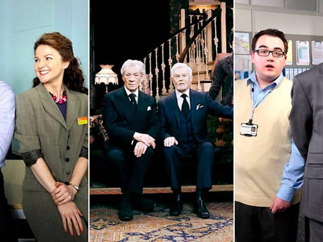 Three British sitcoms, Vicious, The Job Lot, The Wright Way