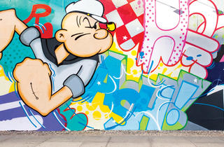 "Popeye Bowery Graffiti Wall mural by John ""Crash"" Matos"