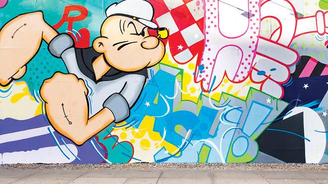 "Popeye Bowery Graffiti Wall mural by John ""Crash"" Matos"