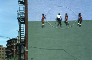 John Ahearn and Rigoberto Torres, Homage to the People of the Bronx: Double Dutch at Kelly Street I