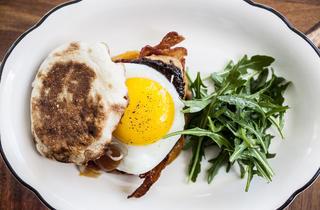 Foie gras breakfast sandwich at Alameda