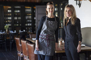 Chef Suzanne Goin and Caroline Styne at AOC