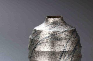 'Mokume-gane vase' (by Ryuhei Sako)
