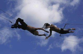Gorilla Circus Outdoor Flying Trapeze School 2013