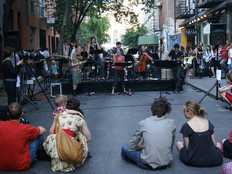 1:30–4:30pm Concerto for Buildings, Greene Street at Broome Street