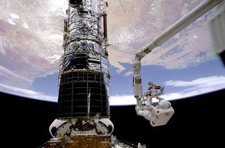 The Hubble Space Telescope  (© NASA)