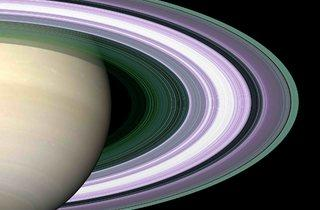 Saturn's rings  (© NASA/JPL)