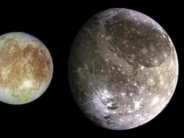 The Galilean moons (© NASA/JPL/DLR)