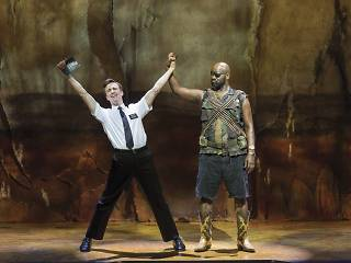 THE BOOK OF MORMON by Parker , Stone,         , Writers – Trey Parker and Matt Stone,  Music – Robert Lopez, Director – Casey Nicholaw, Design –Scott Pask, Costume design – Ann Roth,  Lighting – Brian MacDevitt, London West End, 2013 , Credit: Johan Perss