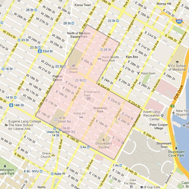 Gramercy and Flatiron map