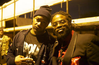 Ghostface Killah, left, with Adrian Younge