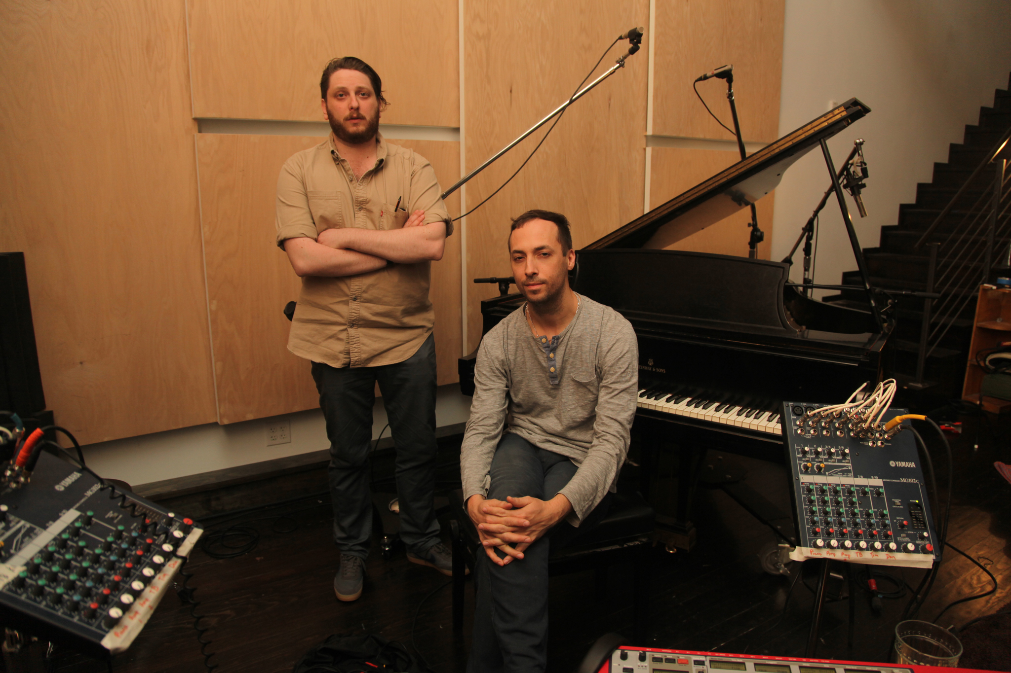 Daniel Lopatin, left, and Tim Hecker