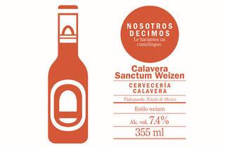 Calavera Sanctum Weizen (Arte: Diana Urbano)