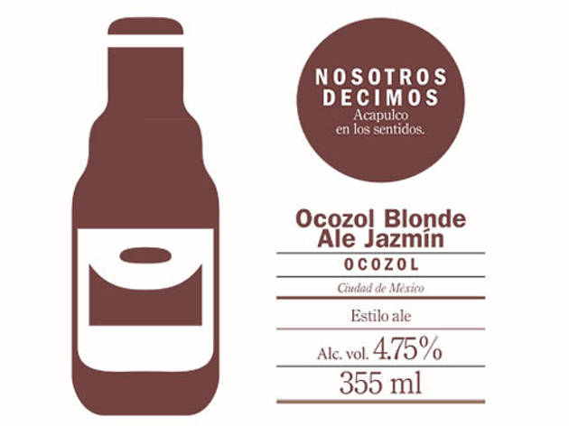 Ocozol Blonde Ale Jazmín (Arte: Diana Urbano)
