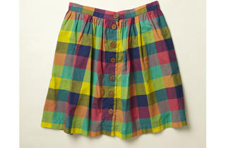 15. Madras Checked skirt