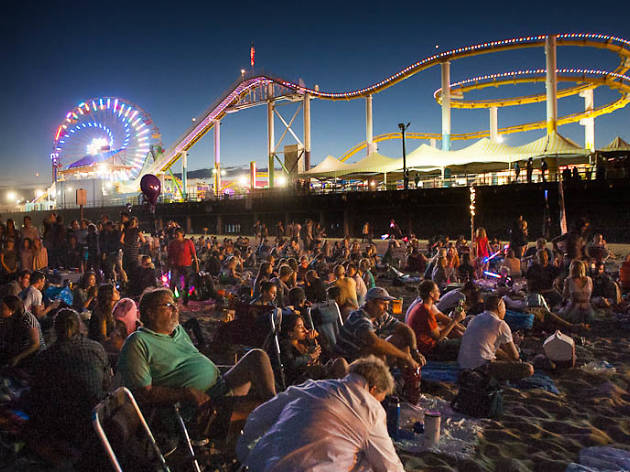 Movie screenings, live concerts, comedy and more happen here at the Santa Monica Pier.