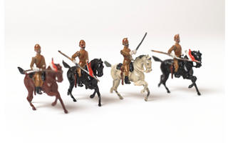 Toy soldier set, 17th Lancers