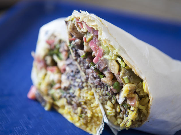 Beef and duck confit burrito at Mexikosher