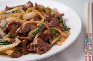 Mongolian beef at Shanghai Diamond Garden