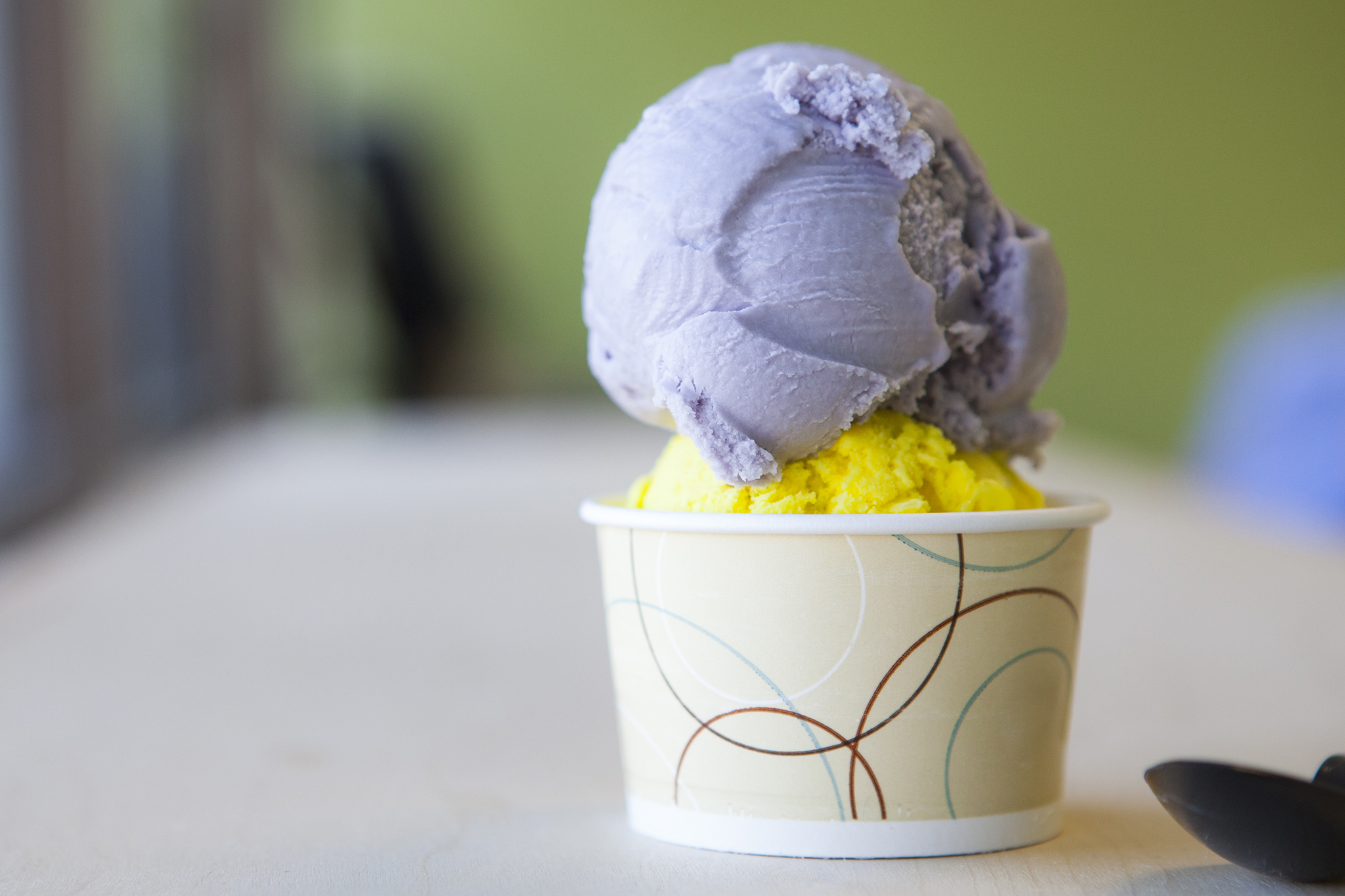 Lavender with Saffron and rosewater icecream at Mashti Malone's Ice Cream