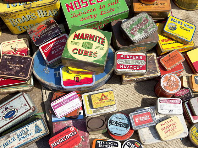 Vintage tins (Celia Topping / Time Out)