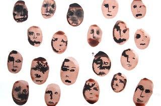 Béatrice Dumiot ('Petites têtes N°8', 2012 (encre sur papier) / ©Béatrice Dumiot)