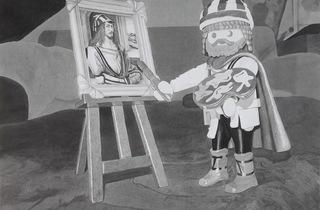Camille Girard & Paul Brunet ('Le playmobil Albrecht Dürer', 2012 (encre sur papier) / © Camille Girard & Paul Brunet)