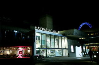 Hayward gallery at night (Sheila Burnett)