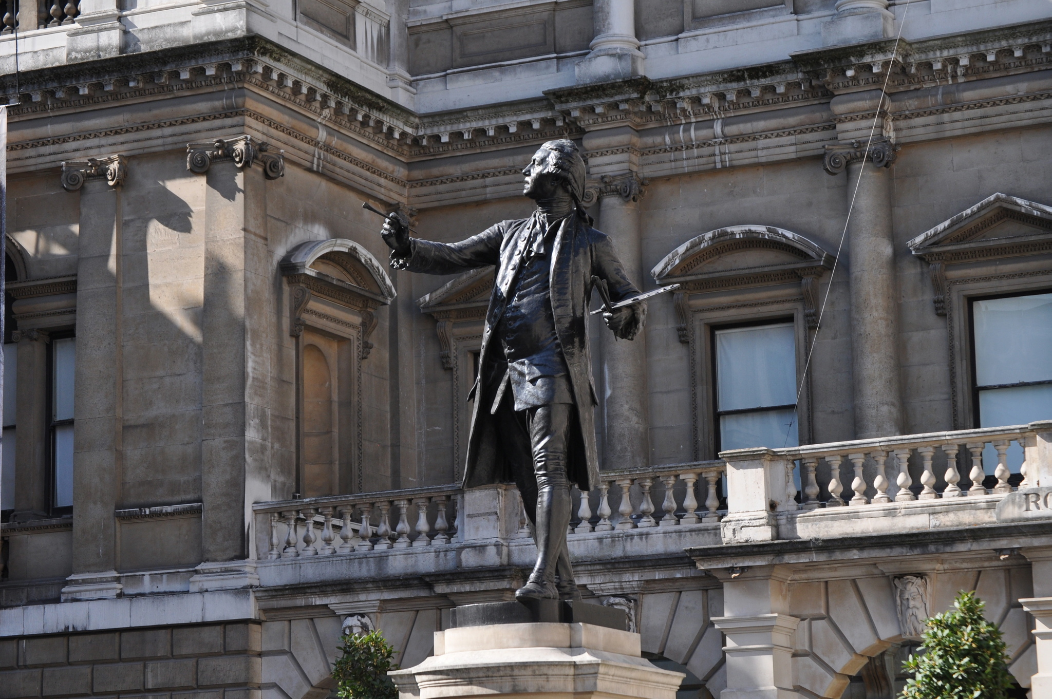 Royal Academy of Arts Statue and exterior