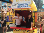 Will Arnett and Jason Bateman at Bluth's Original Frozen Banana Stand in Times Square