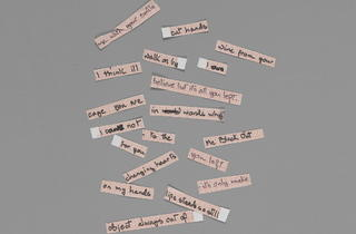 Cut up lyrics for Blackout (© The David Bowie Archive 2012 / V&A Images)