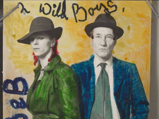Bowie & William Burroughs (© David Bowie Archive 2012 / V&A Images)