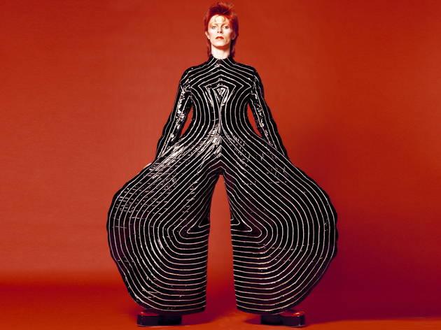 (David Bowie bodysuit for Aladdin Sane tour, David Bowie temporary exhibition 2014 © Victoria and Albert Museum, London)